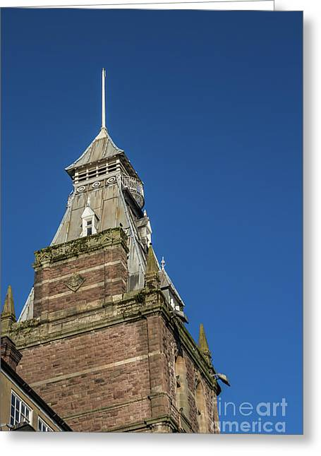 Newport Market Tower Greeting Card by Steve Purnell