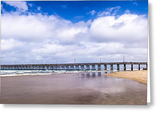 Newport Pier Panorama In Newport Beach California Greeting Card