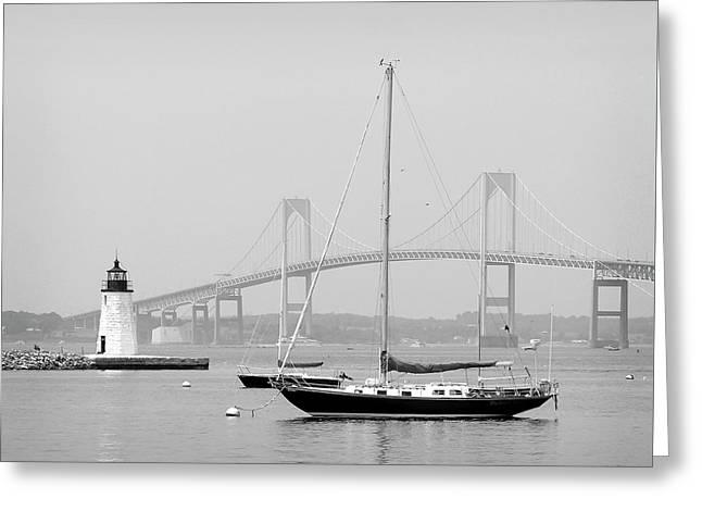 Newport, Rhode Island Serene Harbor Scene Greeting Card