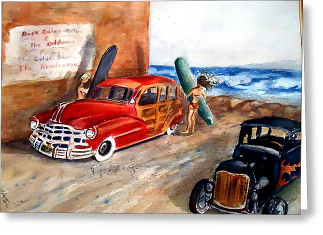 Newport Woody Greeting Card by Charme Curtin