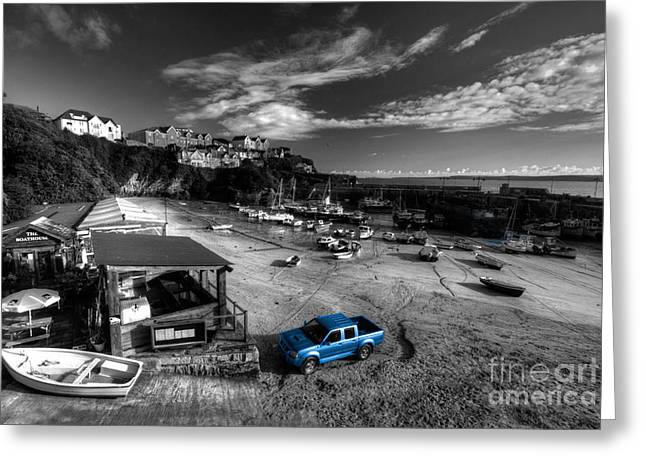 Newquay Harbour  Pickup  Greeting Card by Rob Hawkins