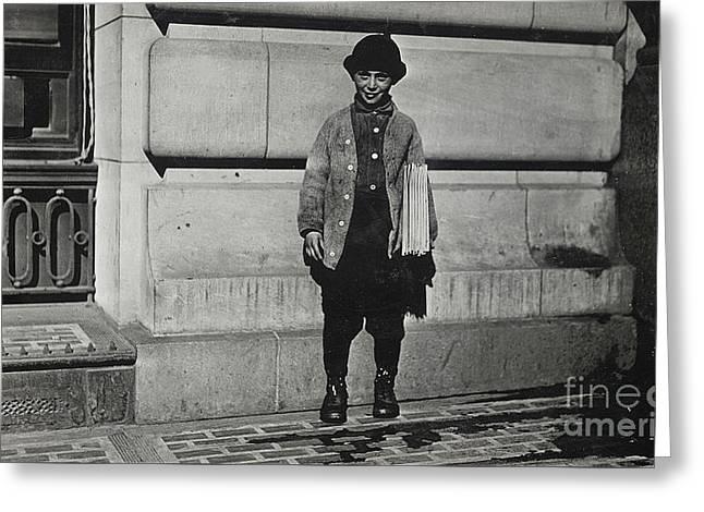Newsboy, 1909 Greeting Card