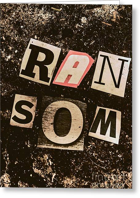 Newspaper Cutout Ransom Letters Greeting Card