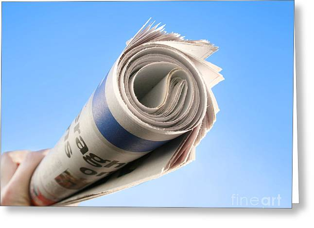 Newspaper Delivery Greeting Card