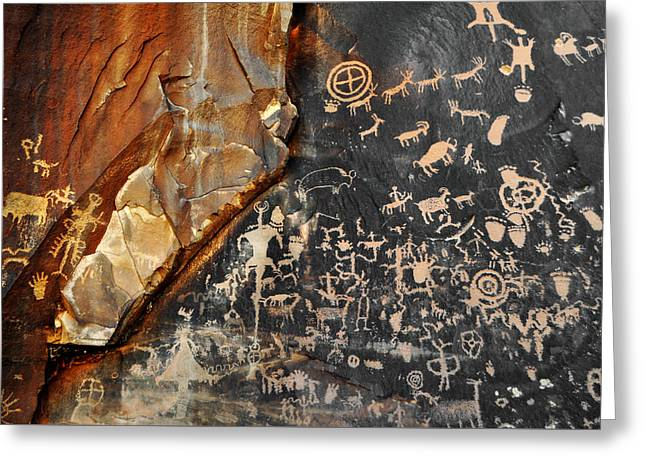 Newspaper Rock Canyonlands Greeting Card