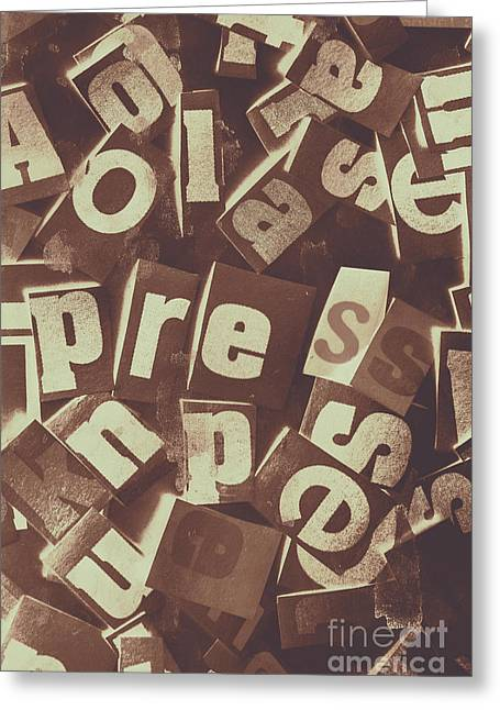 Newsprint Journalism Greeting Card