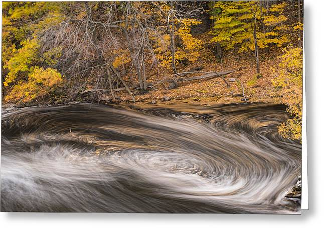Newton Upper Falls Dual Whirlpool Newton Ma Greeting Card by Toby McGuire