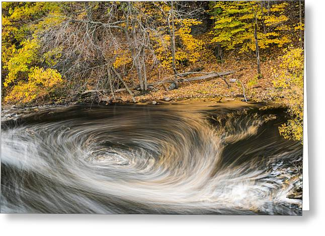 Newton Upper Falls Whirlpool Newton Ma Greeting Card by Toby McGuire