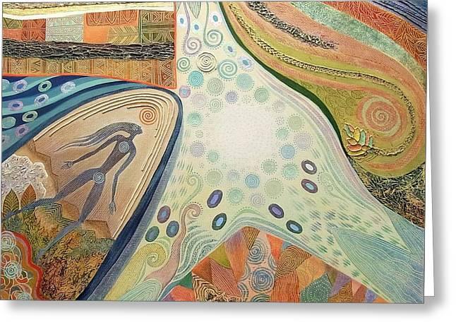 Nexus Point Approaching Greeting Card by Jennifer Baird