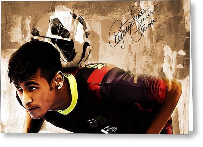 Neymar 02b Greeting Card by Gull G