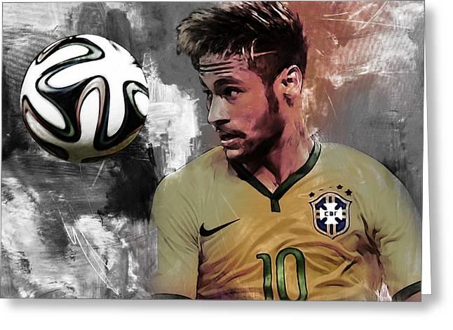 Neymar 051a Greeting Card