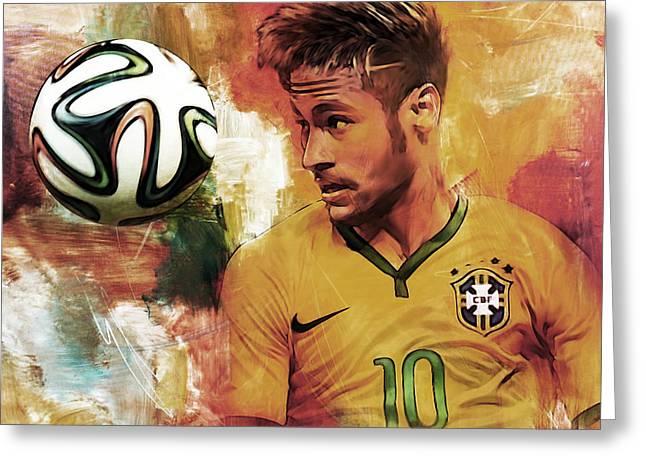 Neymar 05d Greeting Card