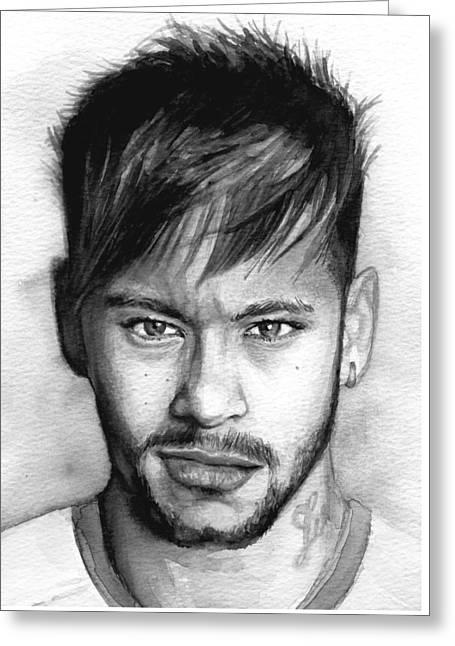 Neymar Portrait Greeting Card