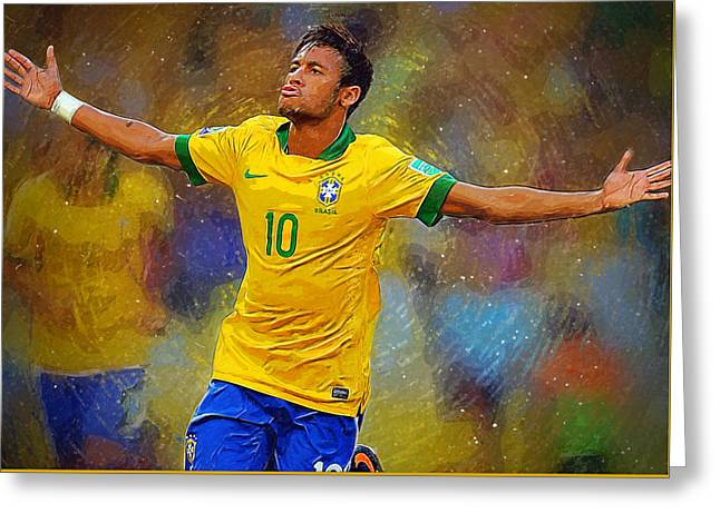 Neymar Greeting Card by Semih Yurdabak
