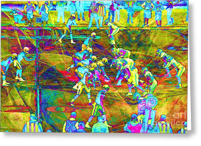 Nfl Football Red Zone Dsc3941 20151215 Greeting Card by Wingsdomain Art and Photography