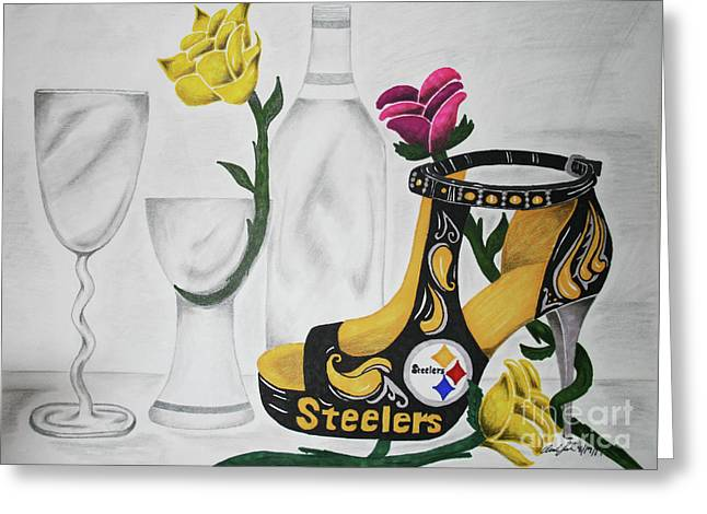 Nfl Steelers Stiletto Greeting Card