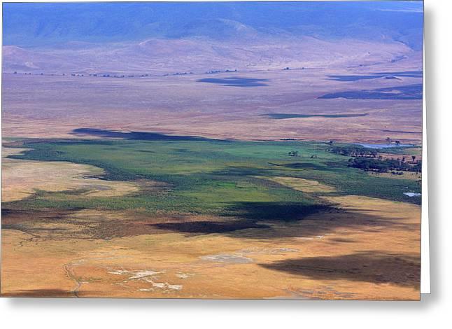 Ngorongoro Crater Tanzania Greeting Card