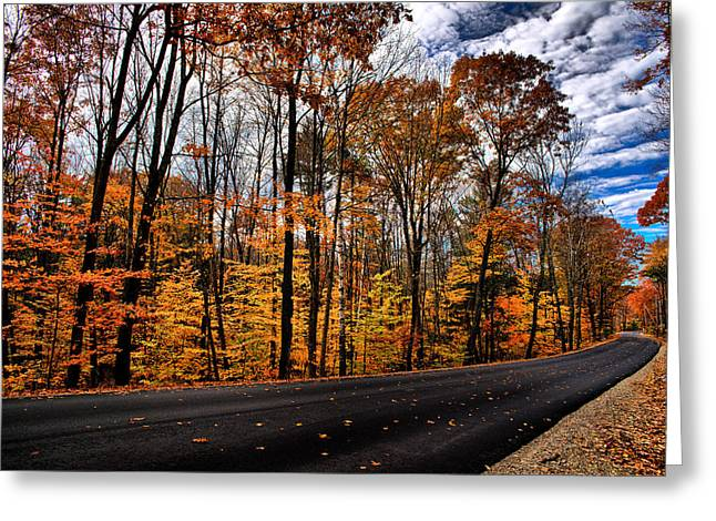 Nh Autumn Road 2 Greeting Card