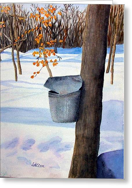Nh Goldmine Greeting Card by Sharon E Allen