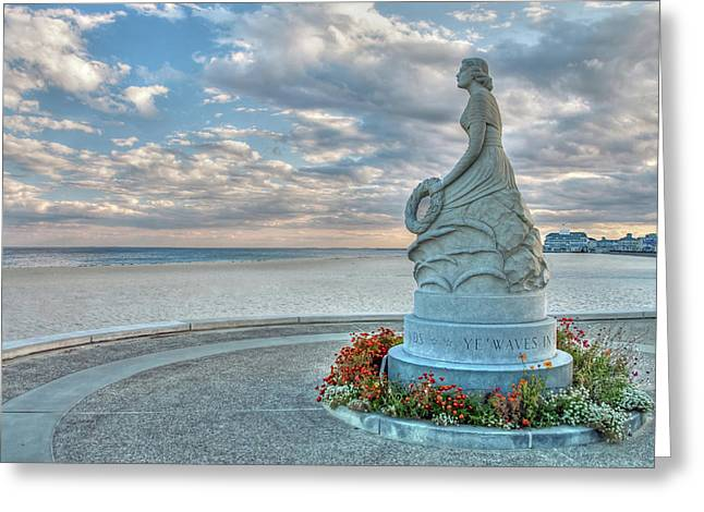 Greeting Card featuring the photograph New Hampshire Marine Memorial by Wayne Marshall Chase