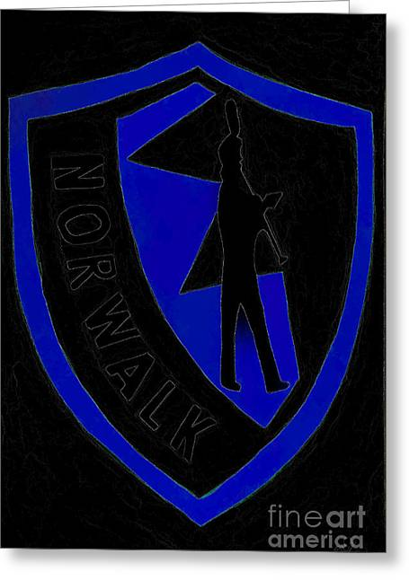 Nhs Black And Blue Greeting Card by DJ Fessenden