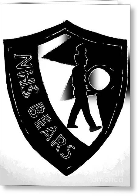 Nhs Black And White Drummer Greeting Card by DJ Fessenden
