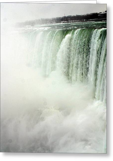 Niagara Falls 4 Greeting Card by Anthony Jones