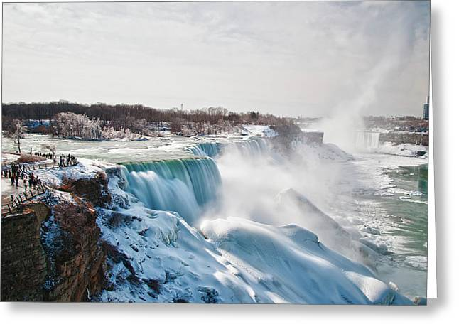 Greeting Card featuring the photograph Niagara Falls 4589 by Guy Whiteley