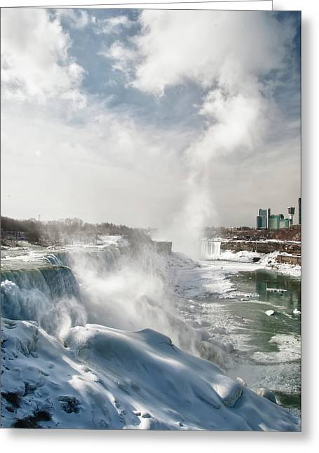 Greeting Card featuring the photograph Niagara Falls 4601 by Guy Whiteley