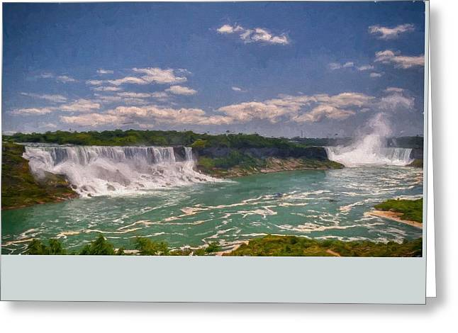 Fall In Niagara Falls Greeting Card