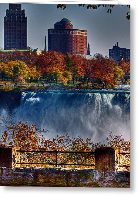 Greeting Card featuring the photograph Niagara Falls From Ontario by Don Nieman