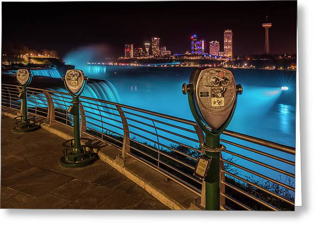 Niagara Falls Idyllic Nightscape Greeting Card