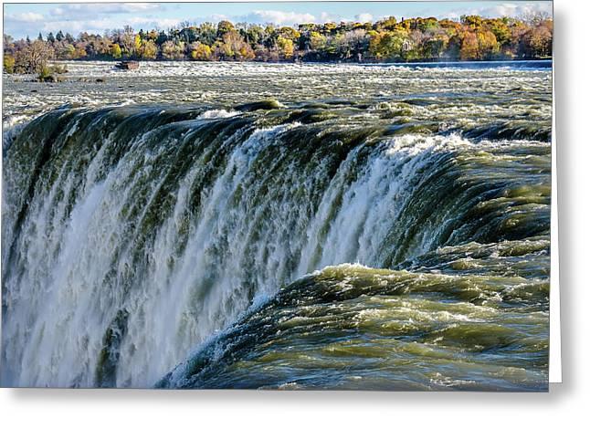 Niagara Falls In Autumn Greeting Card
