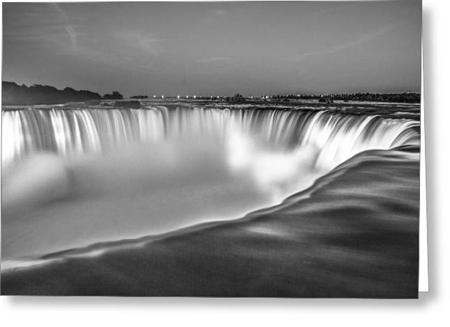 Niagara Falls In Black And White  Greeting Card