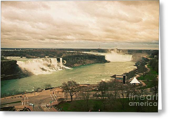 Greeting Card featuring the photograph Niagara Falls by Mary Machare