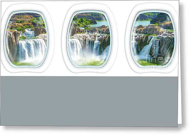 Niagara Falls Porthole Windows Greeting Card