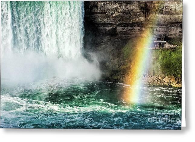 Niagara Falls Rainbow Greeting Card by John Greim
