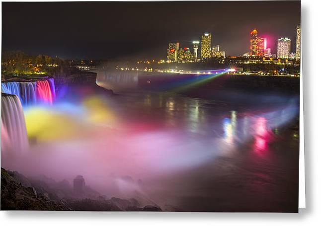 Greeting Card featuring the photograph Niagara Rainbow by Mark Papke