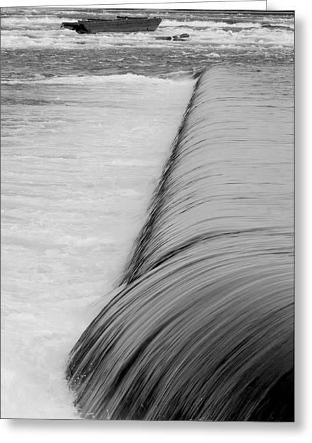 Niagara Water And Ship-0095 Greeting Card by Sean Shaw