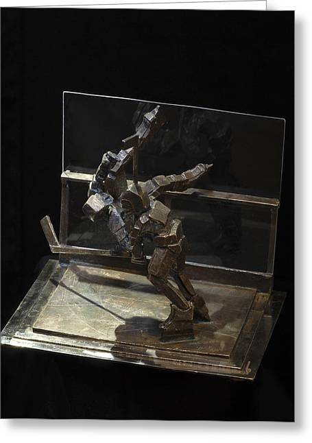 Sport Sculptures Greeting Cards - Nice Check Greeting Card by Ken  Yackel