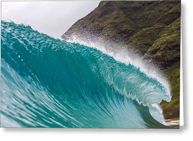 A Curling Wave  Greeting Card by Chris and Wally Rivera