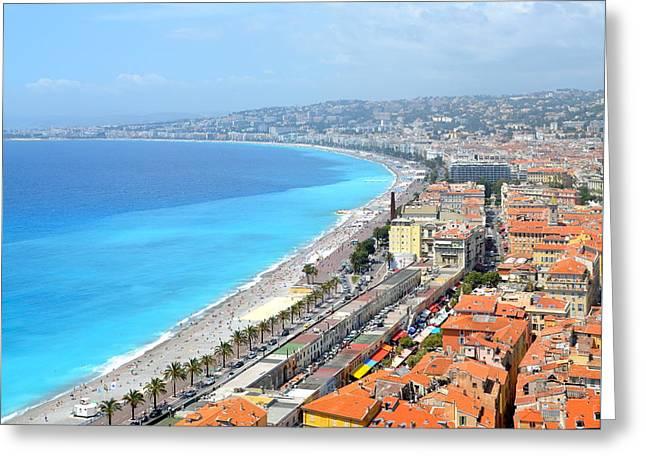 Nice France Coastline Greeting Card