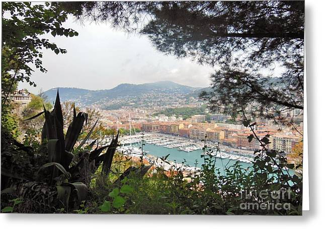 Nice France Harbor Greeting Card by Marilyn Dunlap