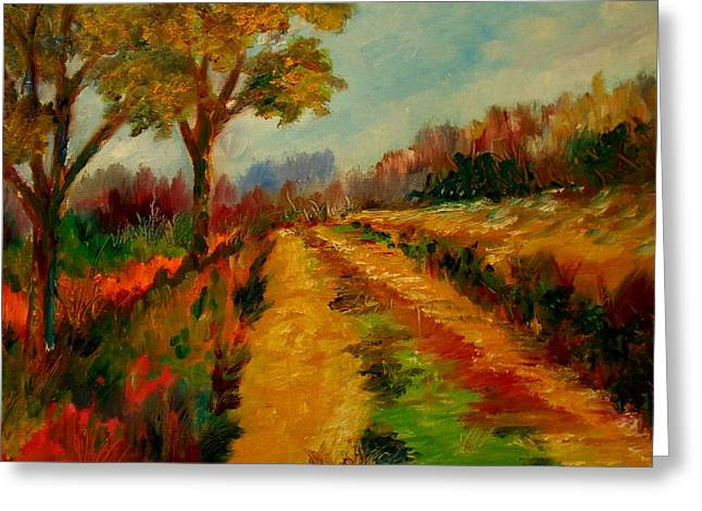 Nice Pathway Greeting Card by Constantinos Charalampopoulos
