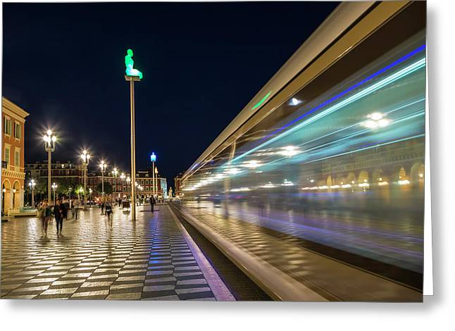 Nice Place Massena In The Evening Greeting Card by Melanie Viola