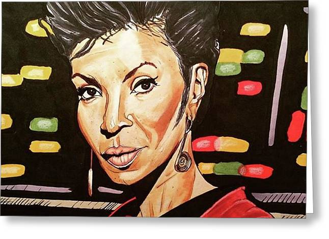 Uhura  Greeting Card by Russell Boyle
