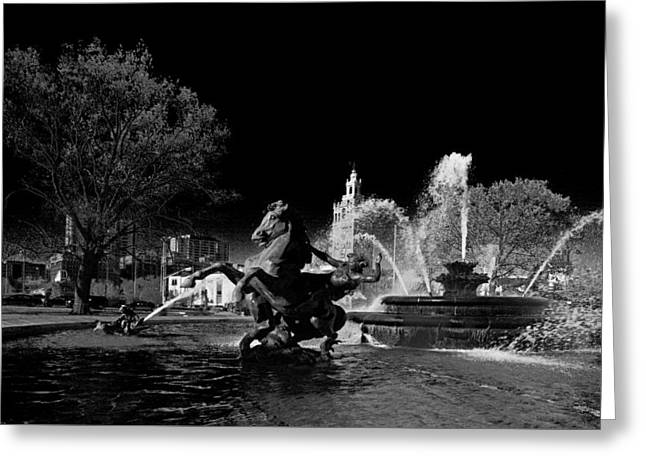 Greeting Card featuring the photograph Nichols Fountain by Jim Mathis