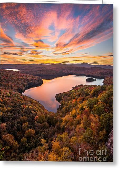 Nichols Pond Sunset Greeting Card by Benjamin Williamson