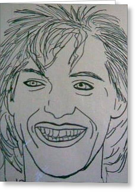 Nick Rhodes Greeting Card by Alisha Carroll