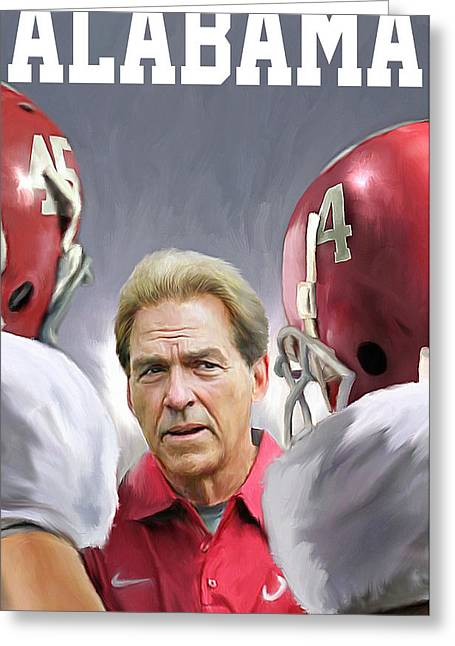 Nick Saban Greeting Card